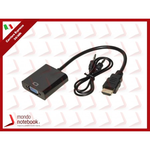 ADATTATORE LINK HDMI/VGA M/F CON AUDIO  3,5 mm, 15cm