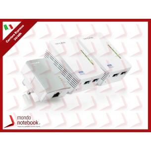 ADATTATORE POWERLINE TP-LINK WIRELESS EXTENDER TL-WPA4220TKIT CONF.3PZ, 2PZ TL-WPA4220...
