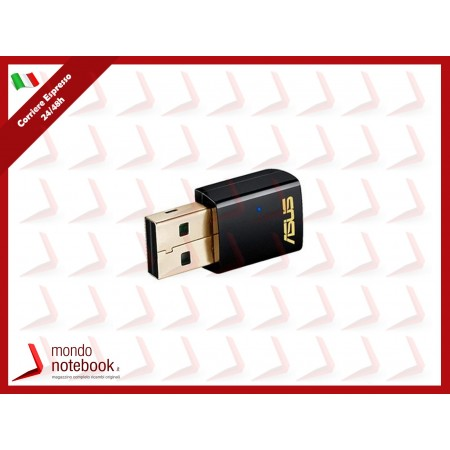 ADATTATORE WIRELESS ASUS USB-AC51 AC600 Dual Band 433+150Mbps Compact size