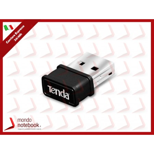 ADATTATORE WIRELESS TENDA W311MI USB 2.0 150M 802.11n/g/b, NANO SIZE versione auto...