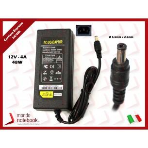 Alimentatore Compatibile 48W 12V 4A (5,5mm x 2,5mm) PER TV MONITOR LCD DISPLAY...