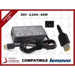 Alimentatore Compatibile per Lenovo 65W 20V 3,25A 3 Poli
