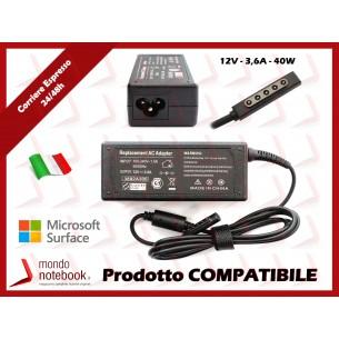 Alimentatore Compatibile per Microsoft 40W 12V 3,6A per Surface Pro1 Pro2 RT