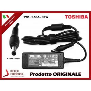 Alimentatore Originale TOSHIBA 30W 19V 1,58A (5,5mm x 2,5mm)