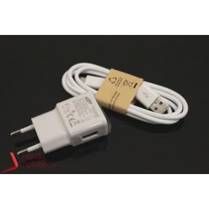 Alimentatore USB 5V 2A + Cavo Dati Micro USB ORIGINALE Samsung Galaxy (BIANCO)