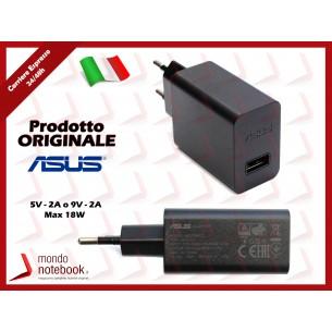 Alimentatore USB Originale ASUS (5,2V 7W 21,35A) (9V 18W 2A) 2P EU (Nero)