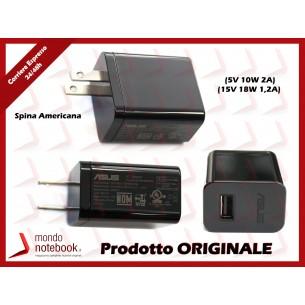 Alimentatore USB Originale ASUS (5V 10W 2A) (15V 18W 1,2A) 2P (NERO) US Americano
