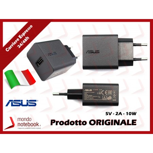 Alimentatore USB Originale ASUS (5V 10W 2A) 2P EU (NERO)