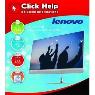 "ALL IN ONE LENOVO V520-24IKU 23,8"" i5-8250U 8GB HDD 1TB DVD Tastiera Mouse W10P"