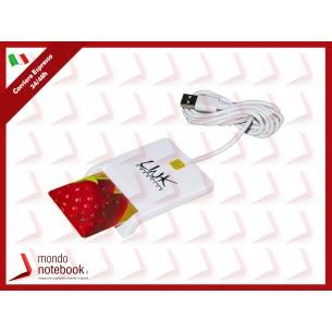 LETTORE LINK SMART CARD USB 2.0 BIANCO - LKCARD02