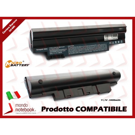 Batteria Compatibile per ACER AL10B31 Aspire One D255 D260 D270 (NERA)