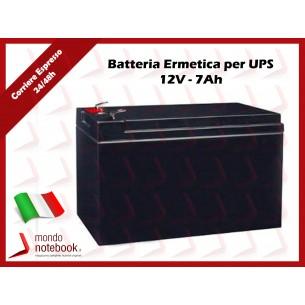 Batteria Ermetica Ricaricabile al Piombo 12V Volt 7Ah per UPS