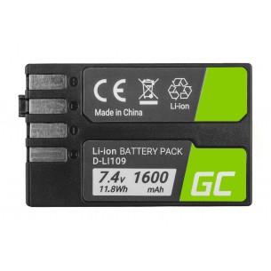 Batteria Green Cell D-Li109 DLi109 per Pentax K-r, K-2, K-30, K-50, K-500, K-S1, K-S2...