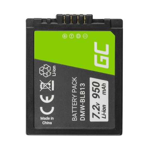 Batteria Green Cell DMW-BLB13 DMWBLB13 per Panasonic Lumix DMC-G1 7.2V 950mAh