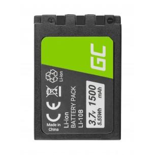 Batteria Green Cell Li-10B  LI-10B per Olympus Stylus 300, µ 800,Camedia X-2 3.7V 1500mAh