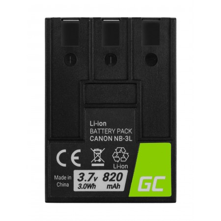 Batteria Green Cell NB-3L NB3L per Canon Digital IXUS II, PowerShot SD100, IXY Digital...