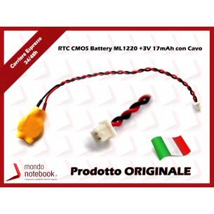 Batteria Tampone RTC CMOS BIOS ML1220 +3V 17mAh con Cavo