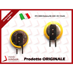 Batteria Tampone RTC CMOS BIOS ML1220 +3V Toshiba Satellite A60 A100 A200 A210 A215 A300