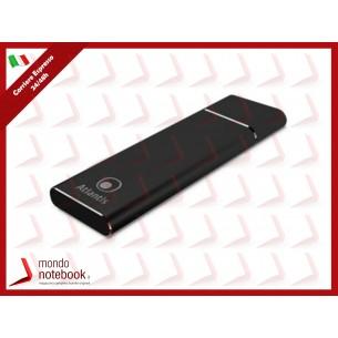 BOX ESTERNO ATLANTIS A06-M2-NVME-01 USB 3.1 tipo C per SSD di tipo M2.NVME dim:...