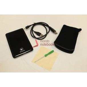 Box Esterno ATLANTIS USB 2.0 Storage 2,5 alluminio e plastica HDD IDE , (fondo...