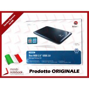 Box Esterno ATLANTIS USB 2.0 Storage 2,5 alluminio e plastica HDD SATA (fondo alluminio...