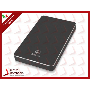 BOX ESTERNO ATLANTIS USB C 3.1 x 2.5''SATA eSSD da 9 e 7mm.Design in alluminio satin...
