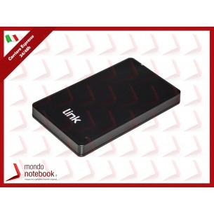 """BOX ESTERNO LINK USB 2.0 PER HDD SATA 2,5"""" FINO A 9,5 MM DI SPESSORE Alloggiamento in..."""