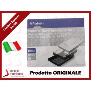 Box Esterno VERBATIM USB 3.0 Superspeed 3,5 compatibile USB 2.0 (silver)