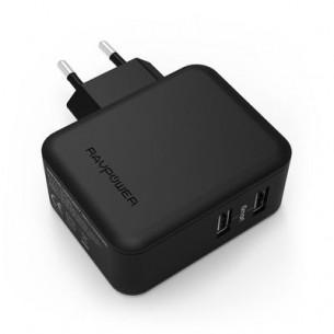 Caricabatterie USB da Muro a 2 Porte RAVPower 24W / 4.8A Caricatore da Viaggio con...
