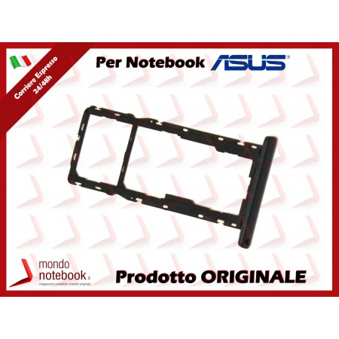 Carrello SIM Tray ASUS ZenFone Live L1 ZA550KL G552KL G553KL (Midnight Black)