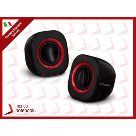 CASSE ATLANTIS P003-C03-B SoundPower 410 Set di mini-casse stero amplificate per...