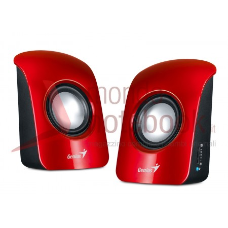 CASSE SPEAKER GENIUS SP-U115 Colorful USB Powered Stereo  (ROSSE)
