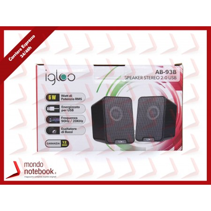 CASSE SPEAKER IGLOO SPEAKER STEREO 2.0 USB BLACK 6 Watt