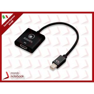CAVO ADATTATORE ATLANTIS mini DISPLAY PORT miniDP TO HDMI 17cm A04-MINIDP_HDMI