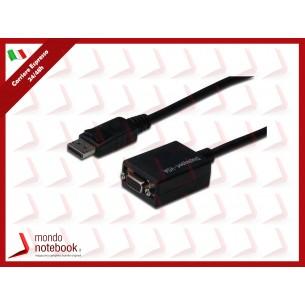 CAVO ADATTATORE DIGITUS DISPLAYPORT DP MASCHIO - VGA 15 POLI FEMMINA 15cm  AK340403001S...