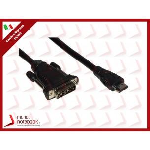 CAVO ADATTATORE M/M HDMI a DVI-D LINK  da HDMI 19POLI a DVI-D 18+1 POLI 4Kx2K 2MT