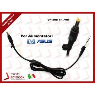 Cavo Alimentazione con Connettore per Alimentatore ASUS HP DC Power Jack da 4,8x1,7mm...