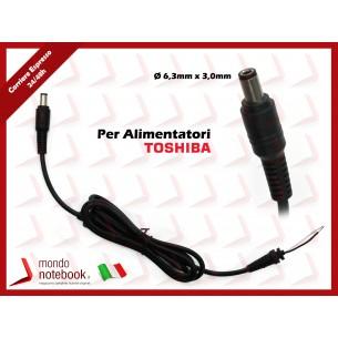 Cavo Alimentazione con Connettore per Alimentatore TOSHIBA DC Power Jack da 6,3x3,0mm...