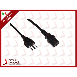 CAVO ALIMENTAZIONE LINK X PC/STAMPANTI SPINA ITALIANA TRIPOLARE 10A 1,8mt Colore Nero -...