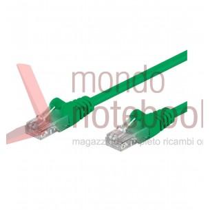 Cavo di rete Patch in Rame Cat. 6 Verde UTP 0,3 mt