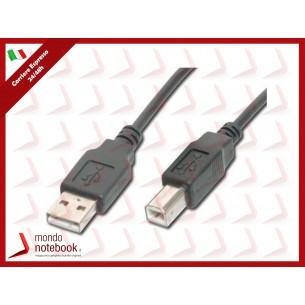 CAVO DIGITUS USB 2.0 A-B M-M 1MT in RAME Colore NERO