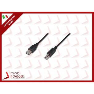 CAVO DIGITUS USB 2.0 A-B M-M 5MT NERO