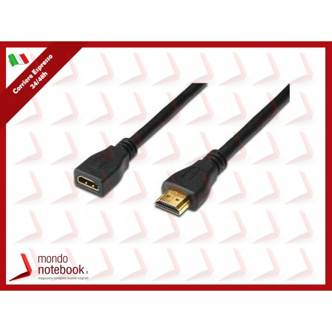 CAVO PROLUNGA HDMI M-F DIGITUS High Speed con Ethernet 2 mt connettori tipo A