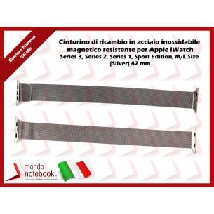 Cinturino per Apple iWatch in acciaio inossidabile magnetico Series 3, Series 2, Series...