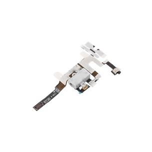 Connettore Cuffie + Tasti Volume e Vibrazione iPhone 4S Earphone Headphone Flex (BIANCO)