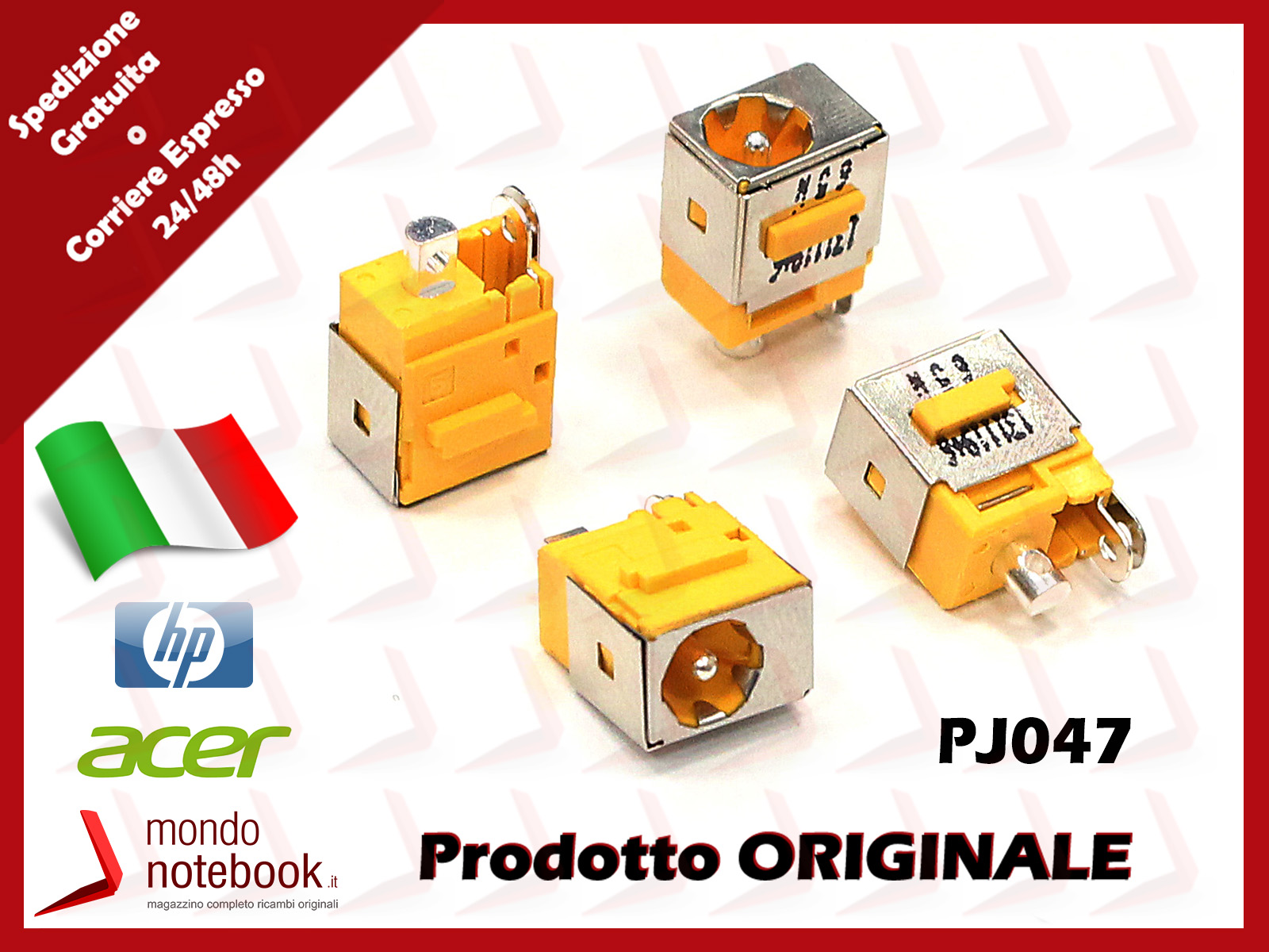 CONNETTORE DI ALIMENTAZIONE DC POWER JACK NOTEBOOK DELL Inspiron PP02X NUOVO