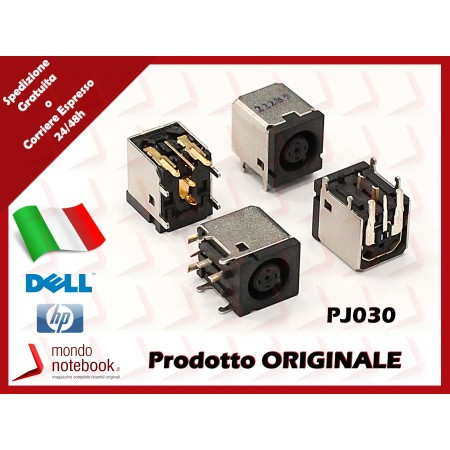 Connettore di Alimentazione DC Power Jack DELL PJ030 1,65mm Inspiron 1150 M170 Latitude...