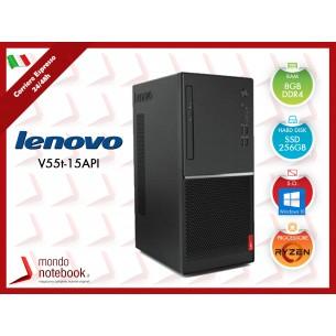 PC Desktop Lenovo V55t TowerAMD Radeon Vega 8 - SSD 256GB - 8GB Ram