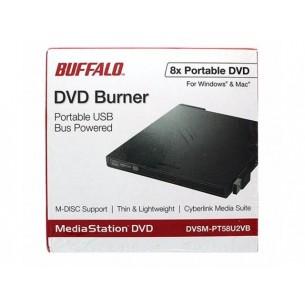 Masterizzatore Unità Ottica DVD/R/RW Buffalo DVSM-PT58U2VB-EU USB 2.0 (Esterno) NERO