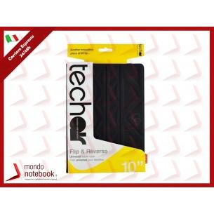 CUSTODIA TECH AIR REVERSIBILE x TABLET 10.1' TAXUT019v2 Universale - NERO/GRIGIO SCURO